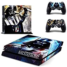 CAN PS4 Console Designer Protective Vinyl Skin Decal Cover for Sony PlayStation 4 & Remote DualShock 4 Wireless Controller Stickers - Darth Vader Battlefront