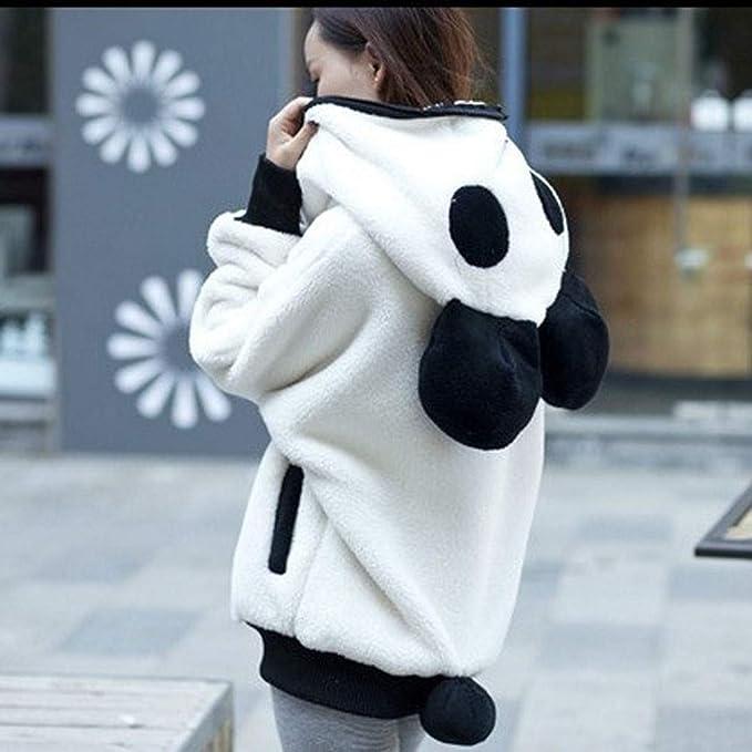 Kingwo Frauen Wintermantel Damen Cute Bear Ohr Panda Warm Hoodie M/äntel Frauen Kapuzenjacke Oberbekleidung