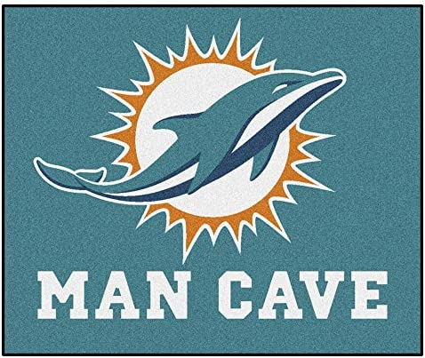 FANMATS 14327 NFL Miami Dolphins Nylon Universal Man Cave Tailgater Rug