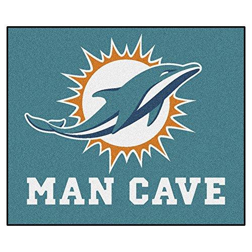 FANMATS 14327 NFL Miami Dolphins Nylon Universal Man Cave Tailgater - Miami Rug Tailgater