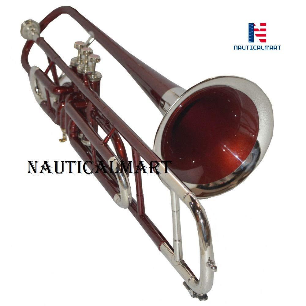 Valve Trombone Bb Red & Nickel Finish
