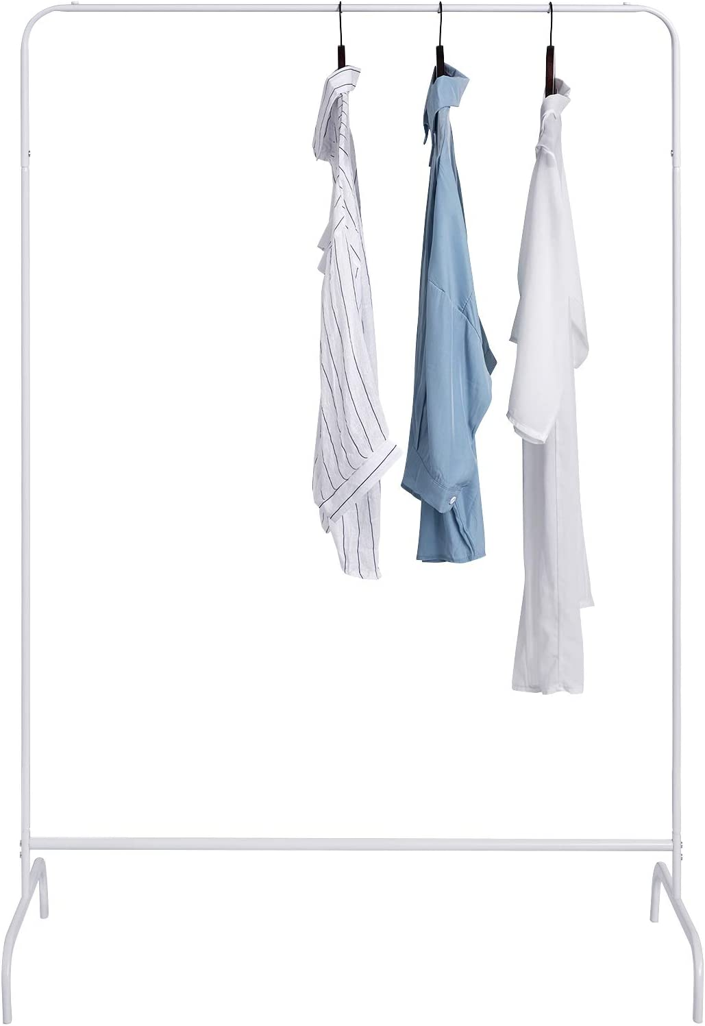 Blanc EUGAD 0142XJYJ Porte-Manteau Portant t/élescopique en m/étal 1 Tringle 99x46x153cm