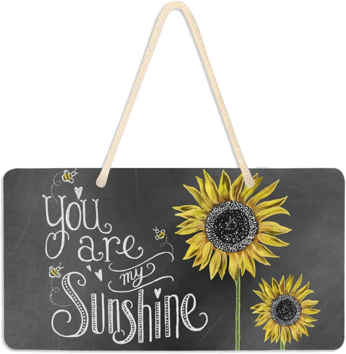 Welcome Sign Front Porch Decor - Sunflower Decor You are My Sunshine Front Door Decor Wall Plaque House Wood Sign Porch Decorations Home Decor Hanging