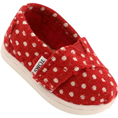 831d05a242e Amazon.com  Toms Red Wool Dot Tiny Classics 10003590-RED (SIZE  10D ...