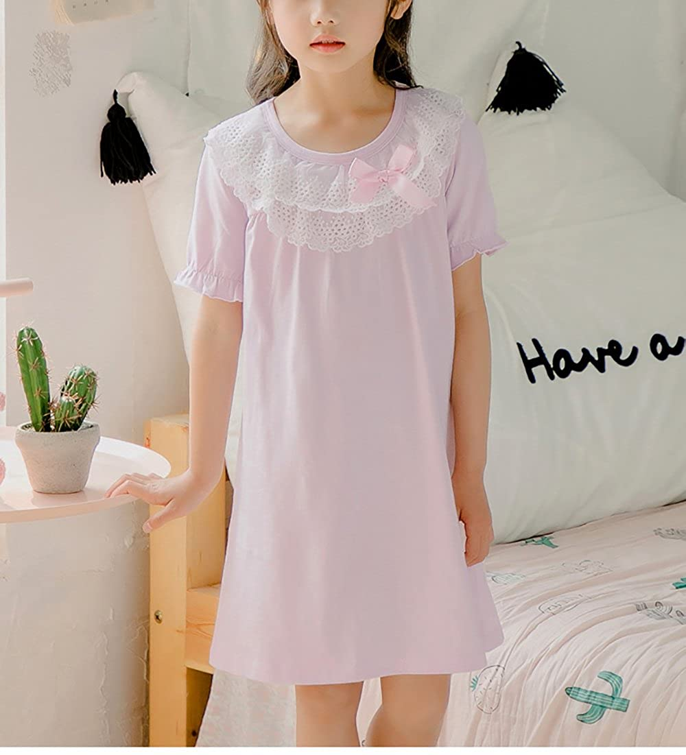 aeba3789d3 Zegoo Toddlers Girls Cotton Nightgowns Pink Nightshirts Home Wear