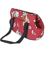 SODIAL (R) Carrier soft travel bag Shoulder Handbag for dog / cat Size Small - Red