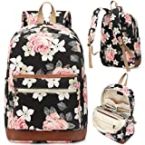 Kenox Girl's School Backpack Rucksack College Bookbag Laptop Bag Floral Deal (Small Image)