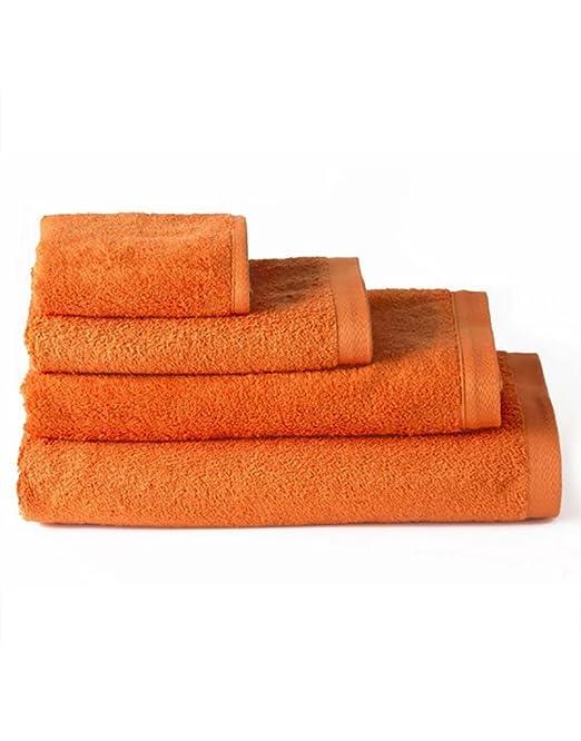 Home Line Toalla de ducha algodón naranja (70x140): Amazon.es: Hogar