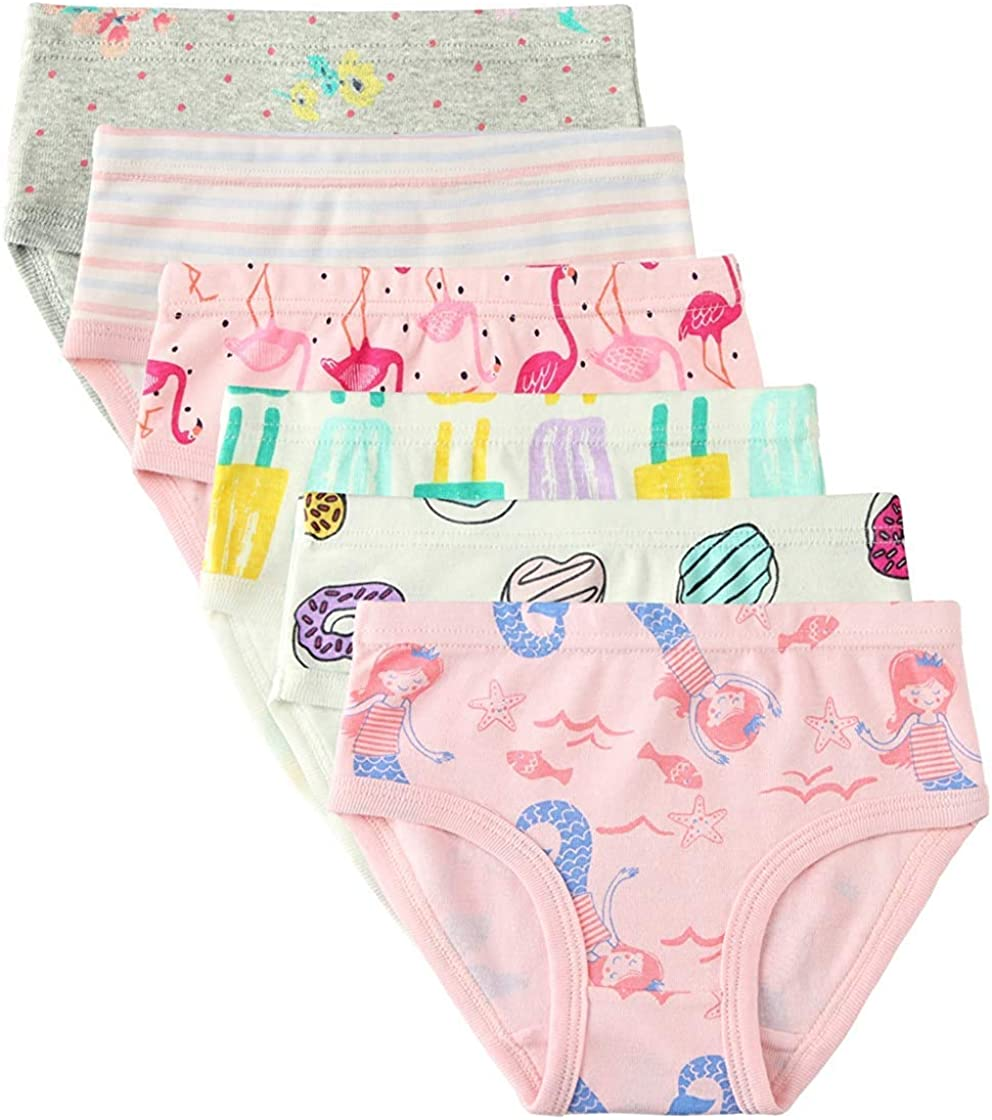 Girls 100/% Soft Cotton Pretty Briefs Knickers Underwear Pants Ages 2-13 Years