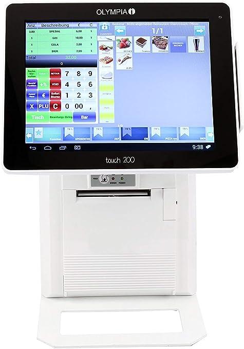 Olympia Touch200 - Caja registradora, color blanco: Amazon.es ...