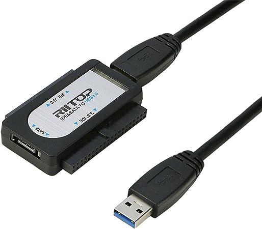 Riitop Usb 3 0 Zu Ide Sata Hdd Ssd Konverter Adapter Kabel Für 2 5 8 9 Cm Festplatte 13 3 Cm Dvd Mit Stromversorgung 6tb Unterstützt Computer Zubehör
