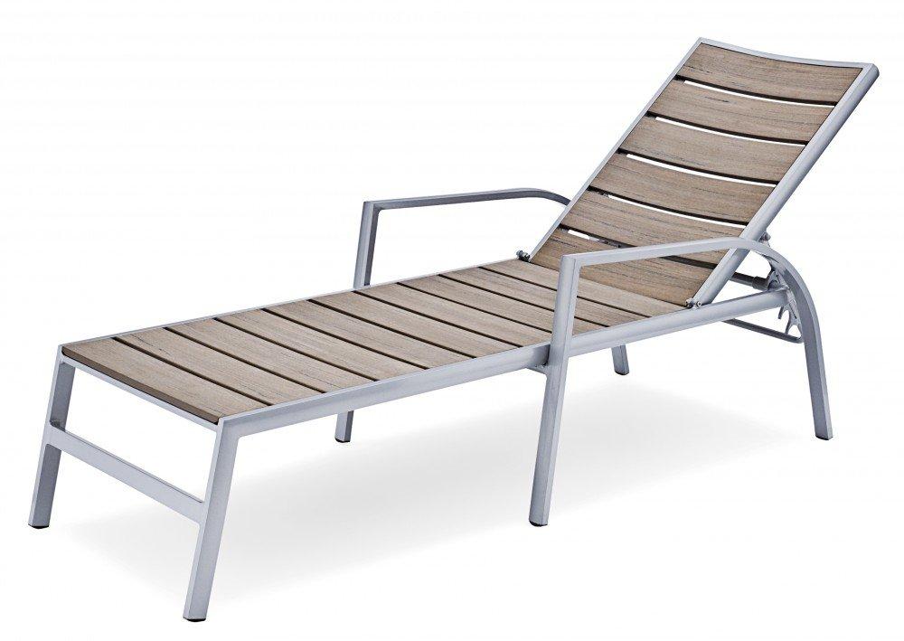 Belardo Sonnenliege Podana, Braun, 205 x 69 x 54 cm