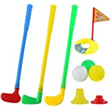 Amazon.com: Little Tikes TotSports Easy Hit Golf Set + 3 balls + 2 clubs: Toys & Games
