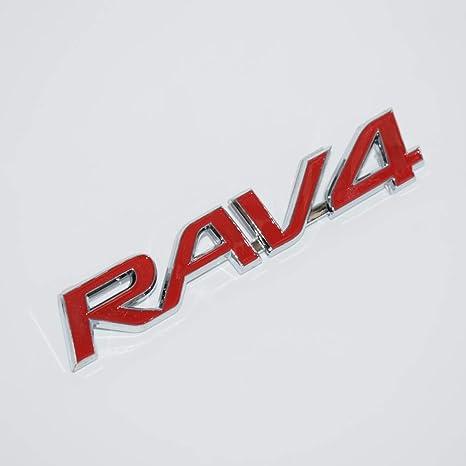 TRD Sportivo RED-WHITE TRD 3D BADGE EMBLEM LOGO ABS PLASTIC STICKER DECAL