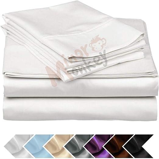 Pink Solid Deep Pocket Bed Sheet Set 1000 Thread Count Egyptian Cotton Sheet