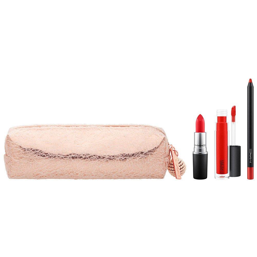 Mac Snowball Lip Bag bei rot Holiday Satz - Limited Edition
