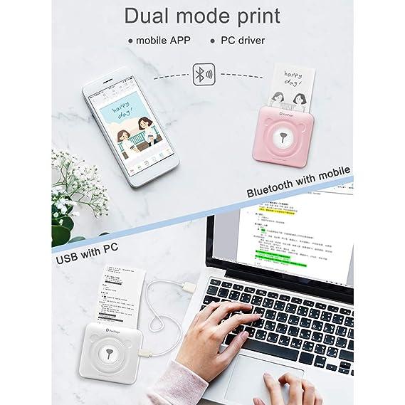 WAN Mini Foto del Bolsillo de la Impresora, portátil Bluetooth 4.0 ...