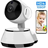LuckLife Home Security Camera, Baby Camera,1080P HD Wansview Wireless WiFi Camera for Pet/Nanny, Free Motion Alerts, 2 Way Audio, Night Vision