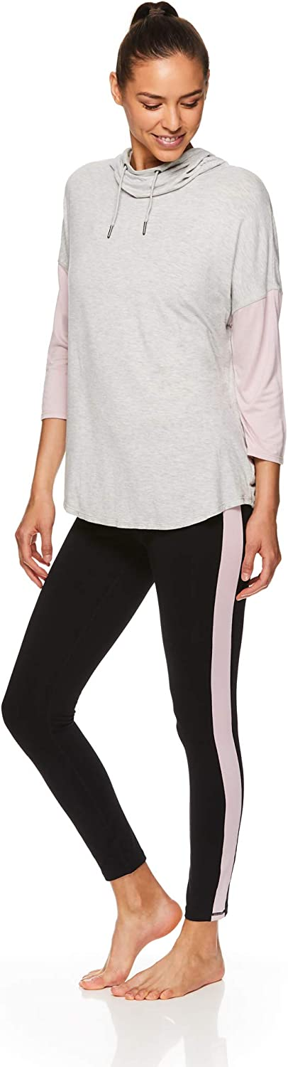 Hooded Activewear Workout /& Yoga Sweater Gaiam Womens Pullover Crop Hoodie