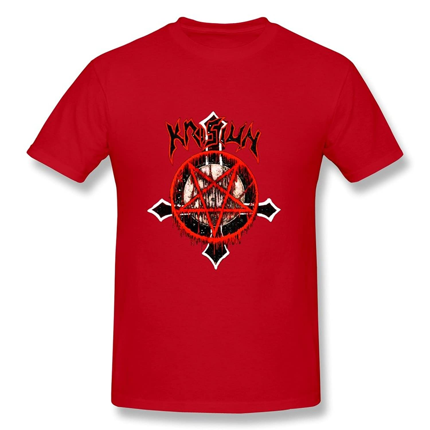 Customize O Neck Cool Krisiun Man Tee Shirt Size XS Red