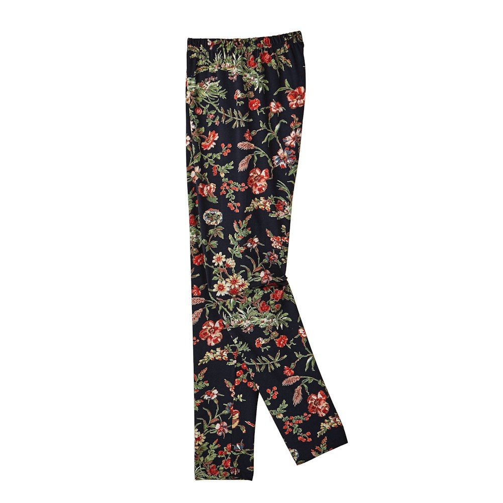 April Cornell Women's Vintage Botanical Printed Leggings by Catalog Classics - Large
