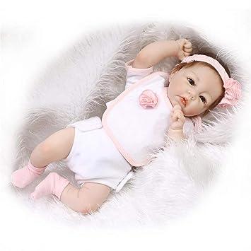 Laurelmartina 50 cm de Cuerpo Completo de Vinilo de Silicona Suave Muñeca de Bebé Hecho A Mano Niño Recién Nacido Muñeca Juguetes de Niña Niños ...