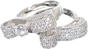 Dudu Flower twins Ring For Women - Silver , 2724834590626