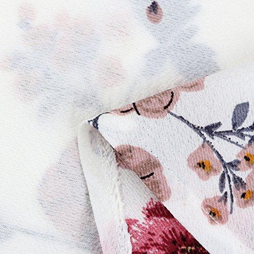 31d391951089dc TWGONE Floral Blouses for Women Plus Size Belted Surplice Peplum V Neck Tops