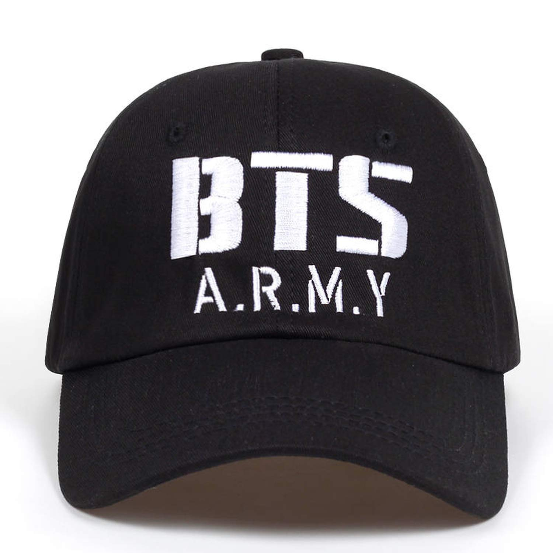 Xivikow Kpop BTS Army Logo Embroidery Baseball Cap Cotton Korea Hiphop Bangtan Boys Unisex Hat Men Women Adjustable