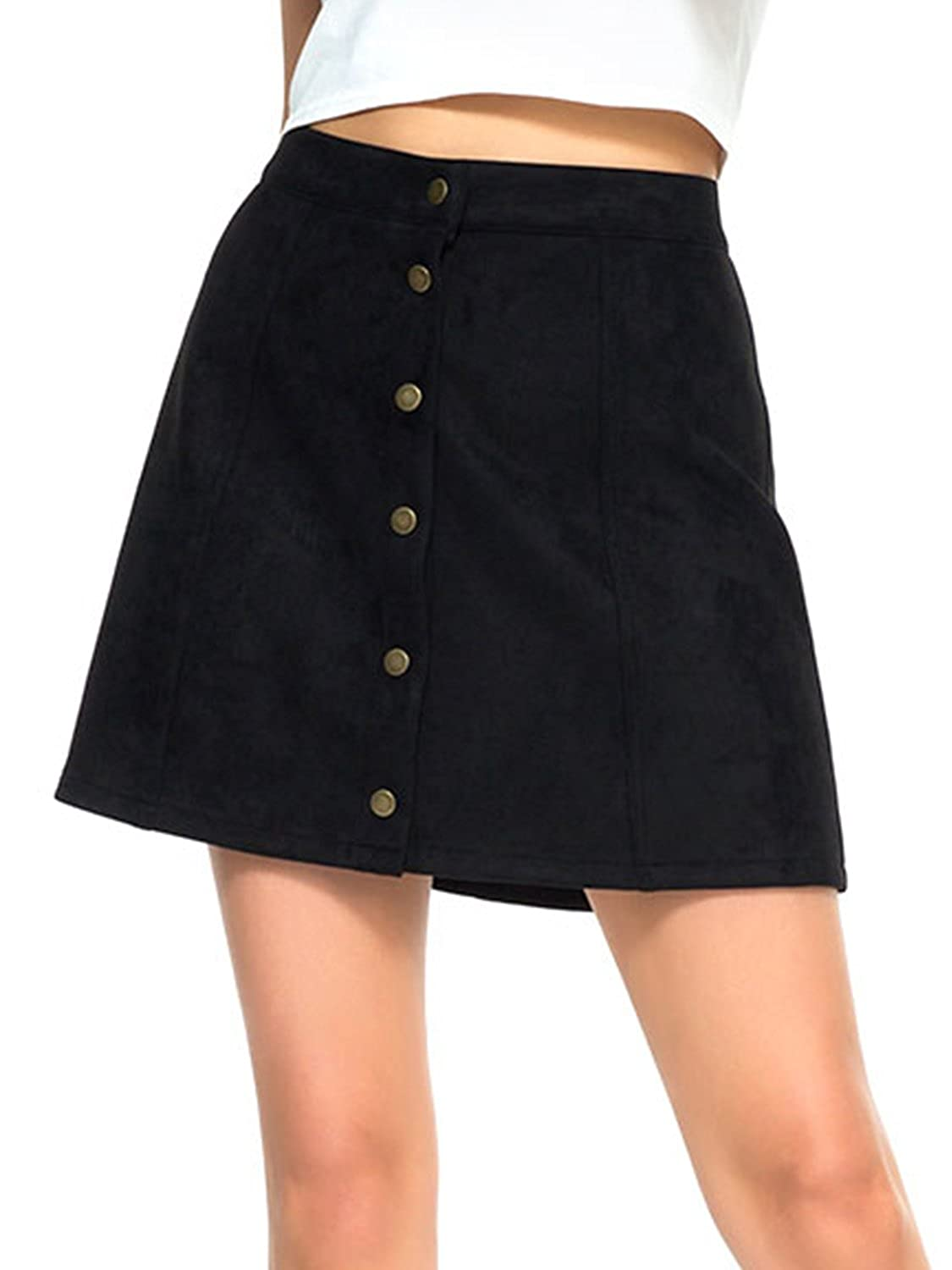 5337b6e519 The Blend of Cotton and Polyester Makes for a Very Soft and Comfortable  Fabric with a Nice Stretch,Stylish Women A-line Denim Skirts Make You Full  of ...
