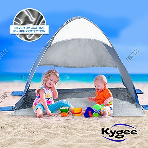 Kygee Beach Tent W Sand Anchors Instant Pop Up Sun Shade