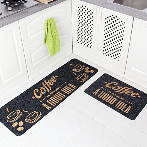 DIDIDD Tapetes de piso de cocina / almohadilla de pie / Doormat / Puerta Striplip Suction Bath Mat / esteras en el pasillo o...