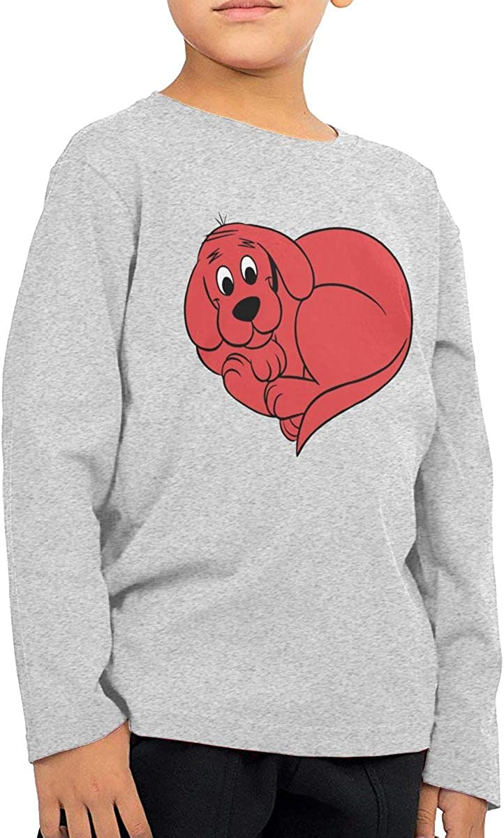 Clifford The Big Red Dog3 Toddler//Infant Boy Girl Long Sleeve T Shirt Graphic Crew Neck Cotton Tops