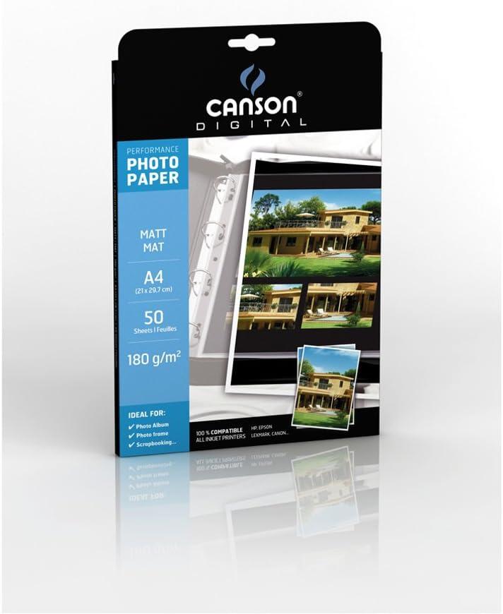 50 Pezzi Canson 0004319 Performance Carta Fotografica