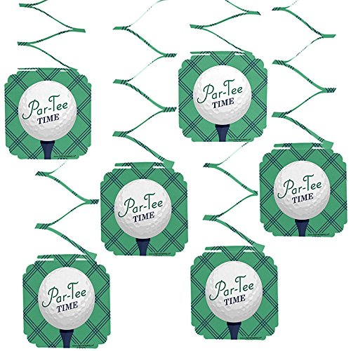 Big Dot of Happiness Par-Tee Time - Golf - Birthday or Retirement Party Hanging Decorations - 6 Count -