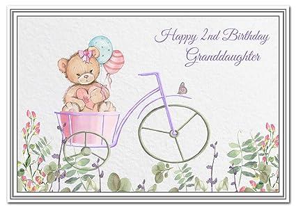 Tarjeta de felicitación de 2º cumpleaños para nieta - bebé ...