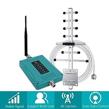 ANNTLENT Amplificador Cobertura MóVil 2G/3G/4G Mejorar la Red y Llamar 5-Banda 800/900/1800/2100/2600MHz Repetidor gsm Soporte ...