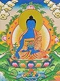 Tibetan Buddhist God Medicine Buddha - Tibetan Thangka Painting