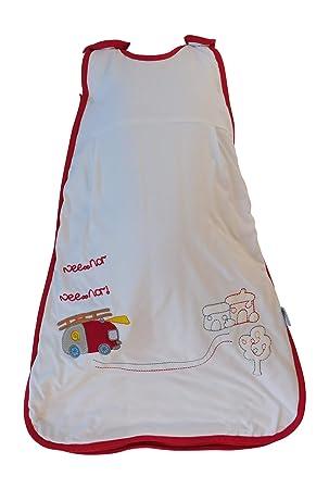 Slumbersac Bebé de Invierno Saco de dormir 2.5 Tog - carro de bomberos, 70cm/ 0-6 meses