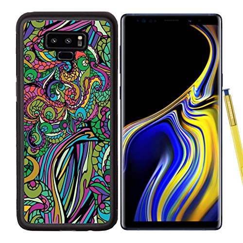 Luxlady Samsung Galaxy Note 9 Case Aluminum Backplate Bumper Snap Cases ID: 42121281 Abstract Vector Tribal Ethnic Background Seamless Pattern Multicolor Color ORN