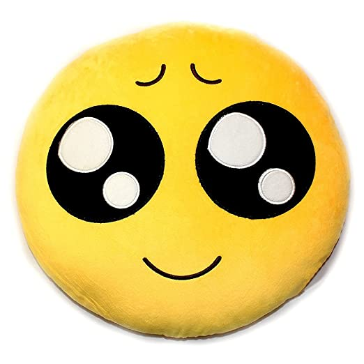 icablelink Emoji Emoticono Cojín Almohada Redonda Emoticon ...