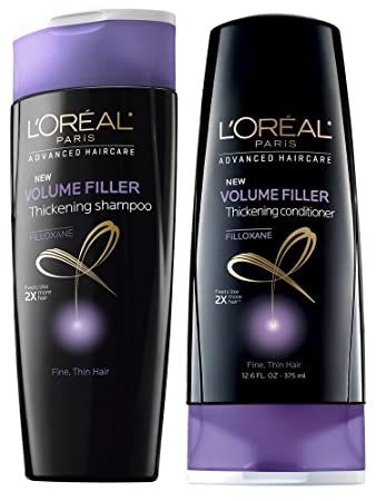 Amazon.com : L'Oreal Volume Filler Thickening Shampoo and ...