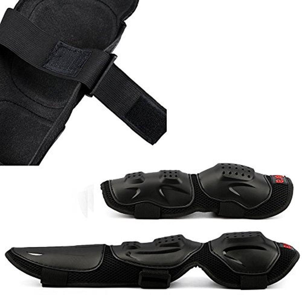 Hooshion® Adult Elbow Knee Shin Armor Guard Pads Protector for Motorcycle Bike,One size Fits Most ,4 Pieces/Set -Black