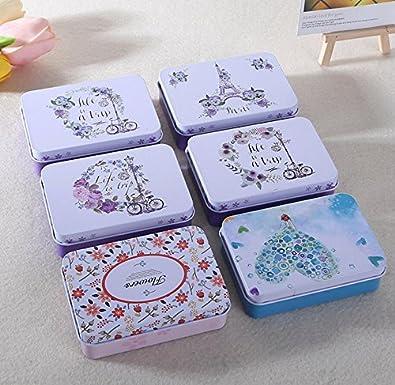 Ducomi LovelyBox - Juego de 3 cajas de hojalata con tapa y diseño vintage italiano - Envase para tabaco, pastillas, bisutería y objetos pequeños: Amazon.es: Hogar