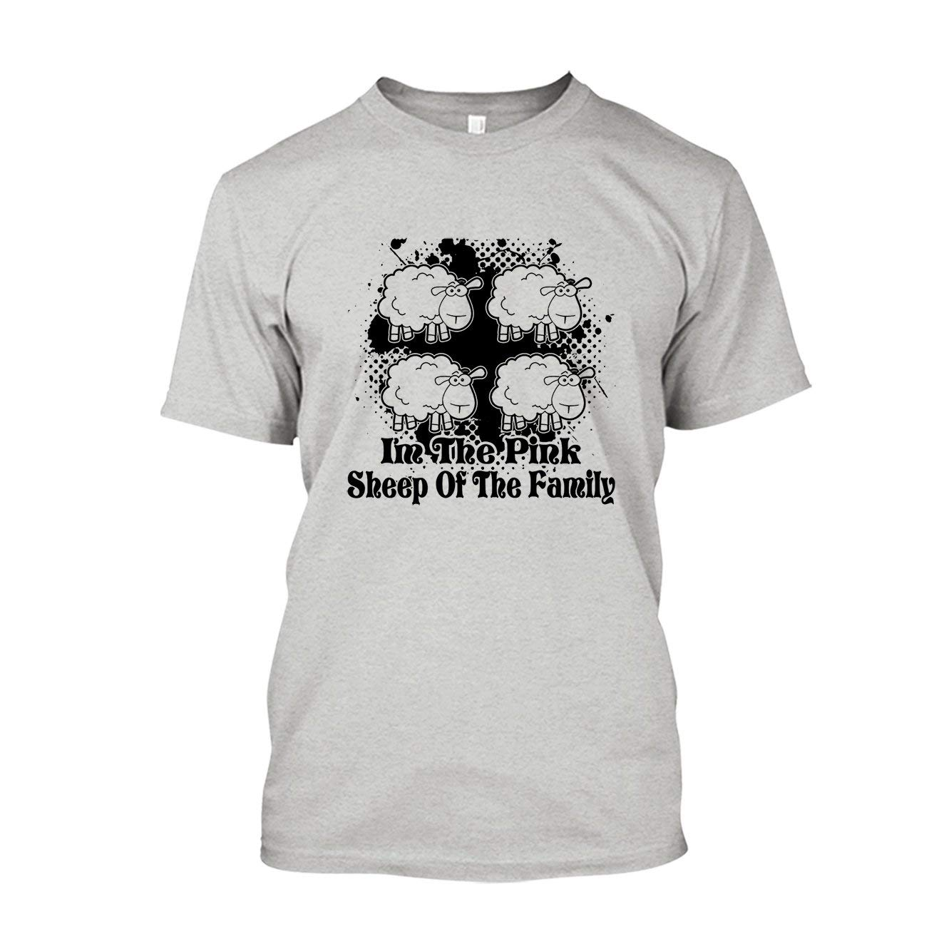 Pink Sheep Of The Family T Shirt Design Shirt 1779