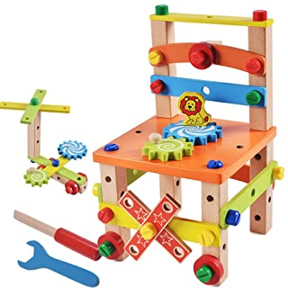 Hanbaili Assembling Toys Wooden Screw Cool Wooden Multicolor Decor Intelligence