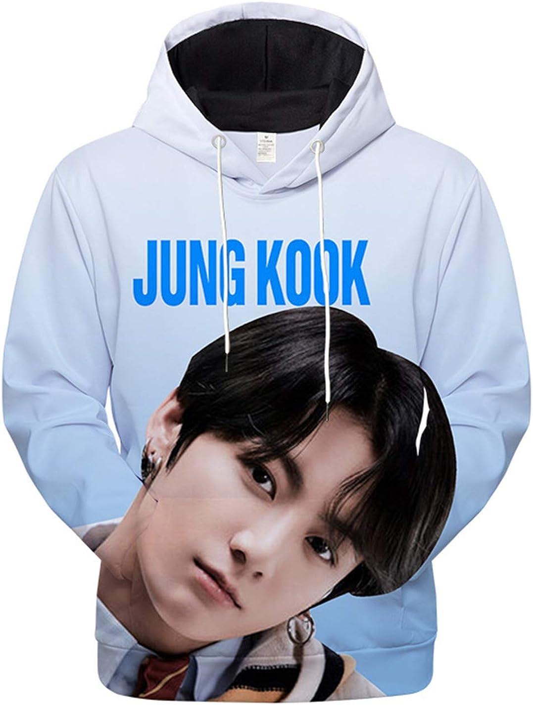 ACEFAST INC Kpop BTS 3D Hoodie Map of The Soul 7 V Jimin Suga RM Jhope Jungkook 3D Unisex Printed Sweatshirt