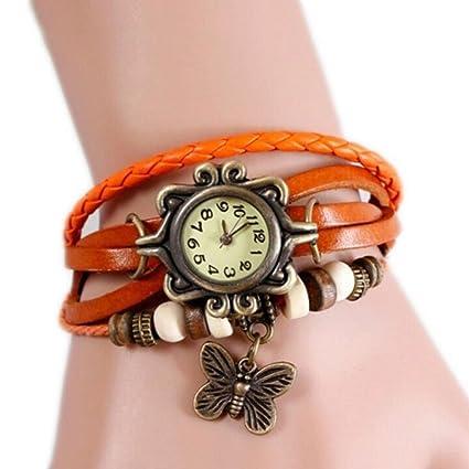 cosanter Reloj Retro Vintage Mujer Reloj De Pulsera Brazalete Reloj Colgante Cuarzo Relojes con diseño de
