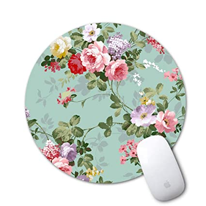 ebf6c8f50e912 Mouse Pad, Sumplee Fashion Mousepad Round Art Print Mouse Pads Anti Slip  Rubber Mouse Mat for Desktops, Computer, PC and Laptops (7.87