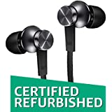 (Certified Refurbished) Mi Basic in-Ear Headphones with Mic (Matte Black)